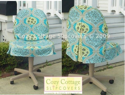 chair covers office seats styles of chairs upholstered slipcovers for desk cozy another fantastic redo from tess sensational