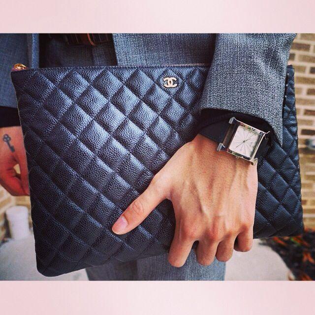 349b7226a7de Chanel clutch for men Hermes watch
