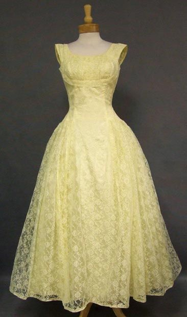 b4facb7402ab A lovely 1960's evening dress in lemon lace. | Special Occasions ...
