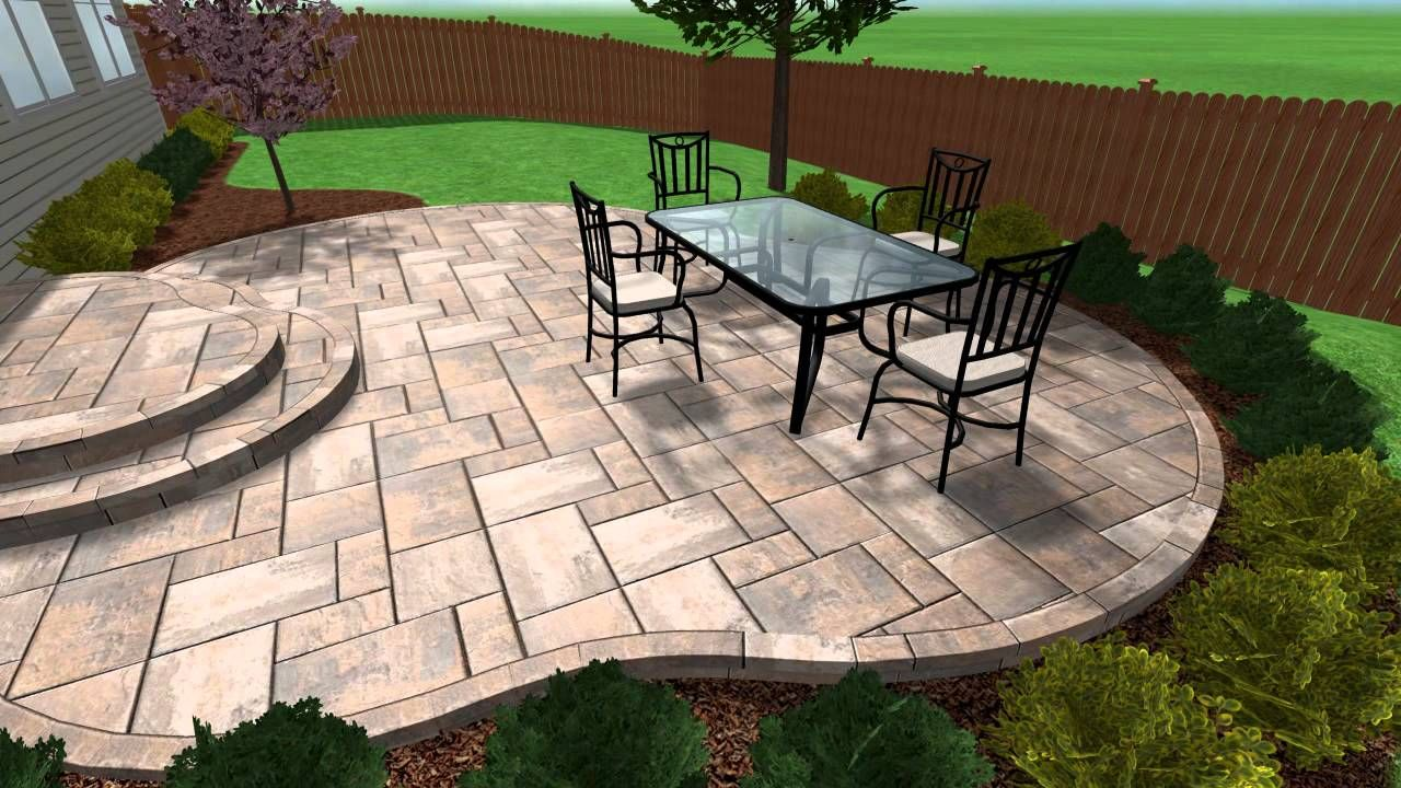 Stamped Concrete Patio And Steps In Aurora IL By Chicago Brick Paving LLC,