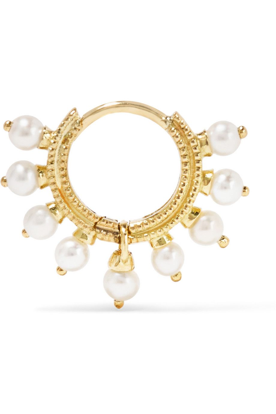 MARIA TASH 18-karat gold pearl earring$360 Post fastening for pierced ears Pearl: Japan NET-A-PORTER.COM is a certified member of the Responsible Jewellery Council