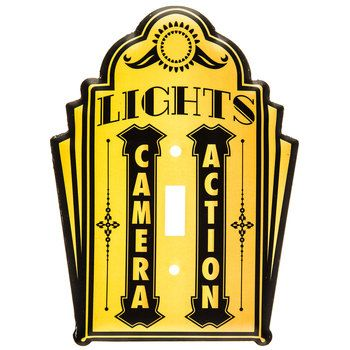 Lights, Camera, Action Single Switch Plate