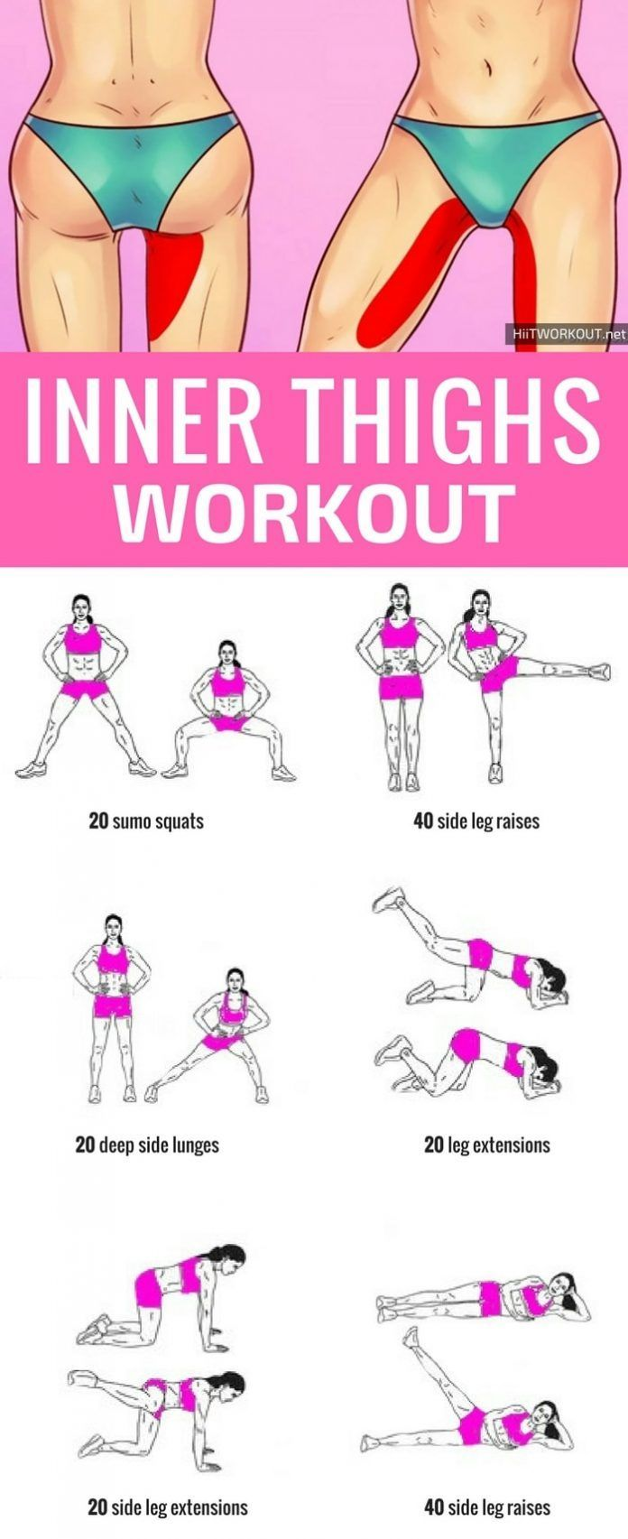 This is a great inner thigh workout at home, you do not need any equipment, just 10 minutes a day....