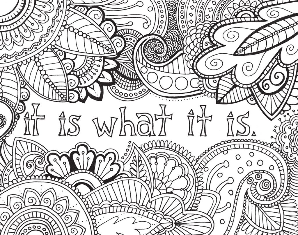 brighten your day and your walls with these positive phrases like make today great adult colouring pagesmandala