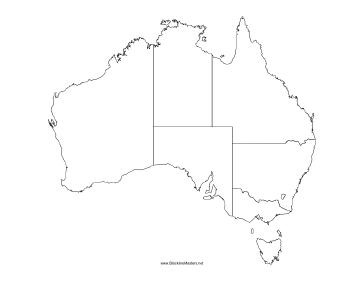 Free Map Of Australia To Print.This Blackline Master Features A Map Of Australia Free To Download