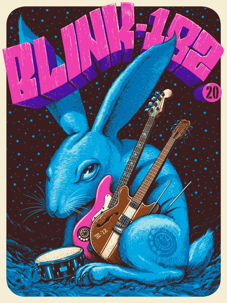 Jeff Soto, Blink-182 20 year Anniversary poster. 2012 | Rock \'n ...