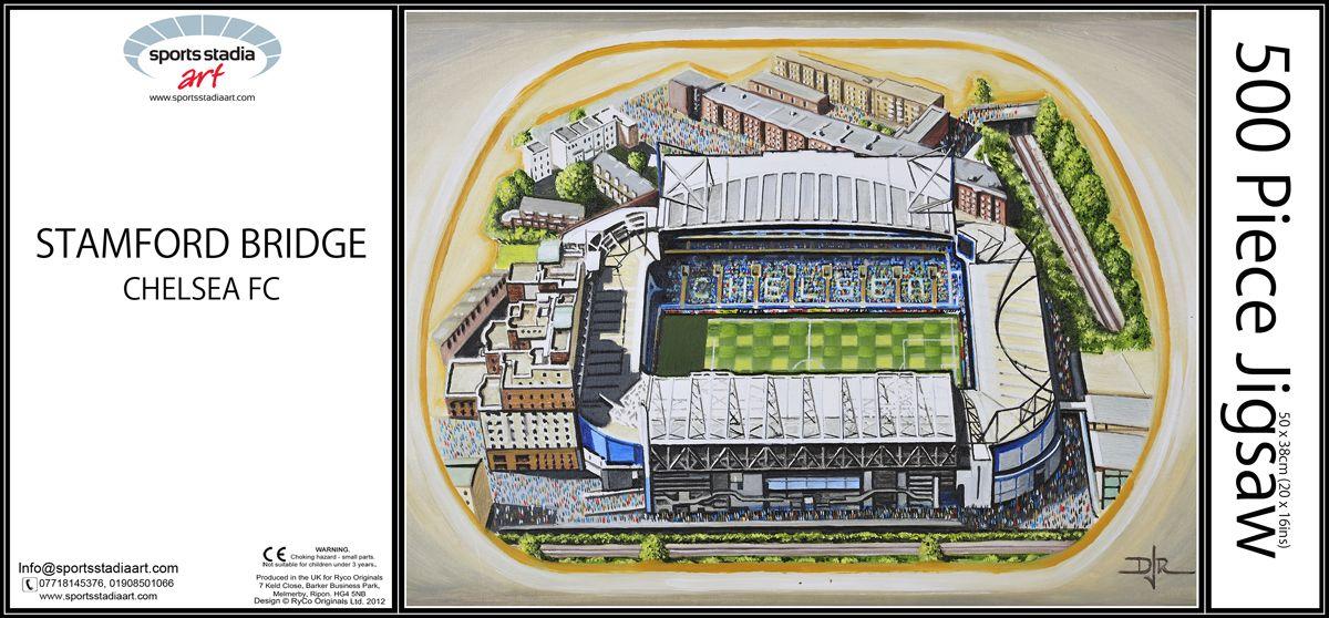 stamford bridge stadium chelsea fc by d j rogers 500 piece jigsaw