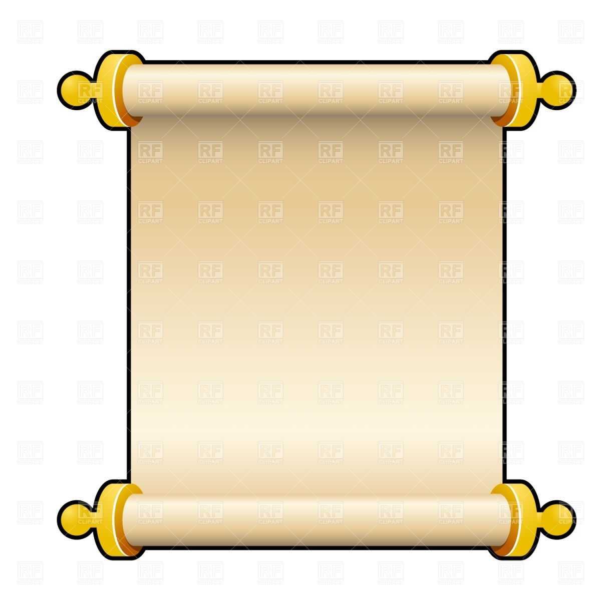 free clip art of a scroll | Ancient parchment scroll, download ...