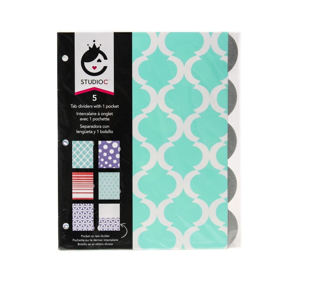 Studio C Pattern PlayTab Dividers For Binders Available At