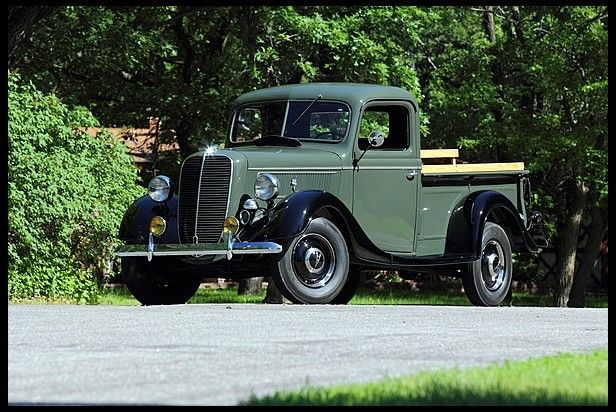 1937 Ford Pickup 85 Hp 3 Speed For Sale By Mecum Auction Ford Trucks Classic Chevy Trucks Pickup Trucks