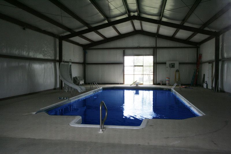 Indoor swimming pool allied community buildings pinterest indoor swimming pools indoor for Indoor swimming pool construction