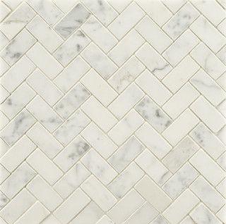 3 X6 Bianco Carrara Polished Traditional Bathroom Tile Other Metros