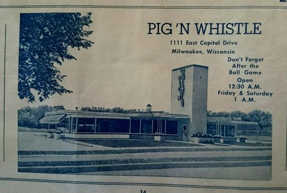 Image result for pig n whistle drive in, milwaukee