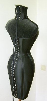 69d8f4137ee Black Leather Punishment Corset and Neck Corset