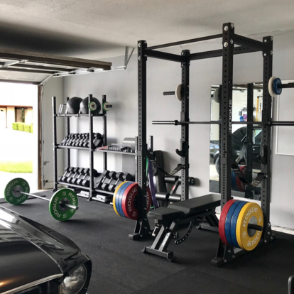 rogue equipped garage gyms  photo gallery  rogue canada