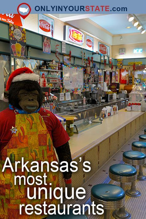 Travel | Arkansas | Attractions | USA | Places To Eat | Bucket List | Delicious | Food | Dining | Restaurants | Things To Do | Day Trips | Weekend Getaway | Foodie | Arkansas Food | Small Towns | Southern Cooking | Unique Restaurants | Mouthwatering | BBQ | Cafe | Zoo | Places To Visit | General Store