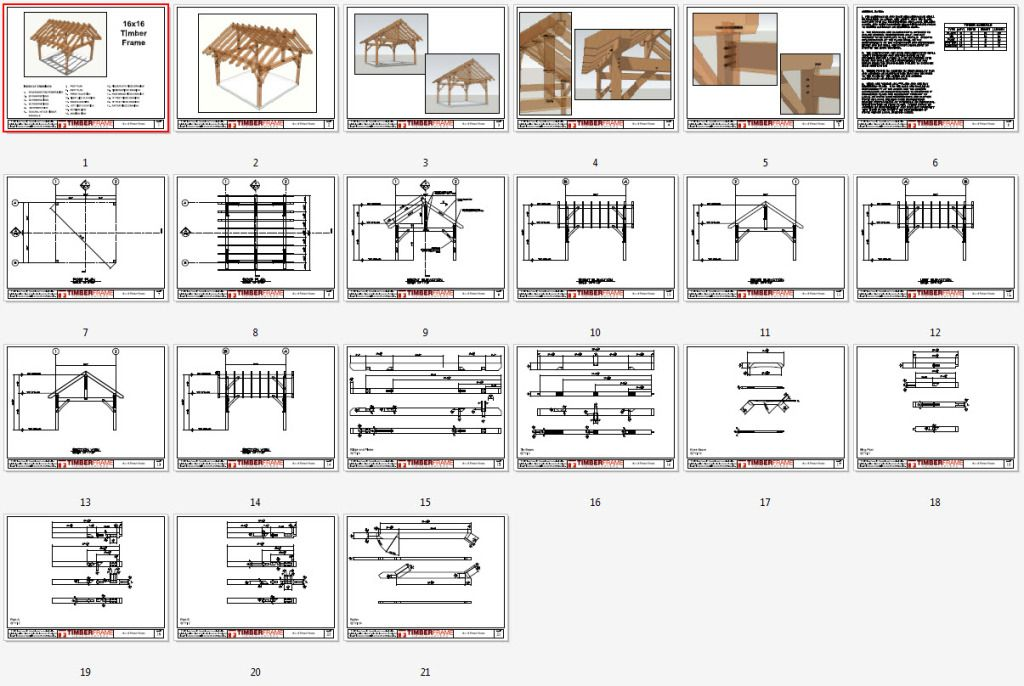 16x16 Timber Frame Plan Timber Frame Hq Timber Frame Plans Timber Frame Porch Timber Frame Construction