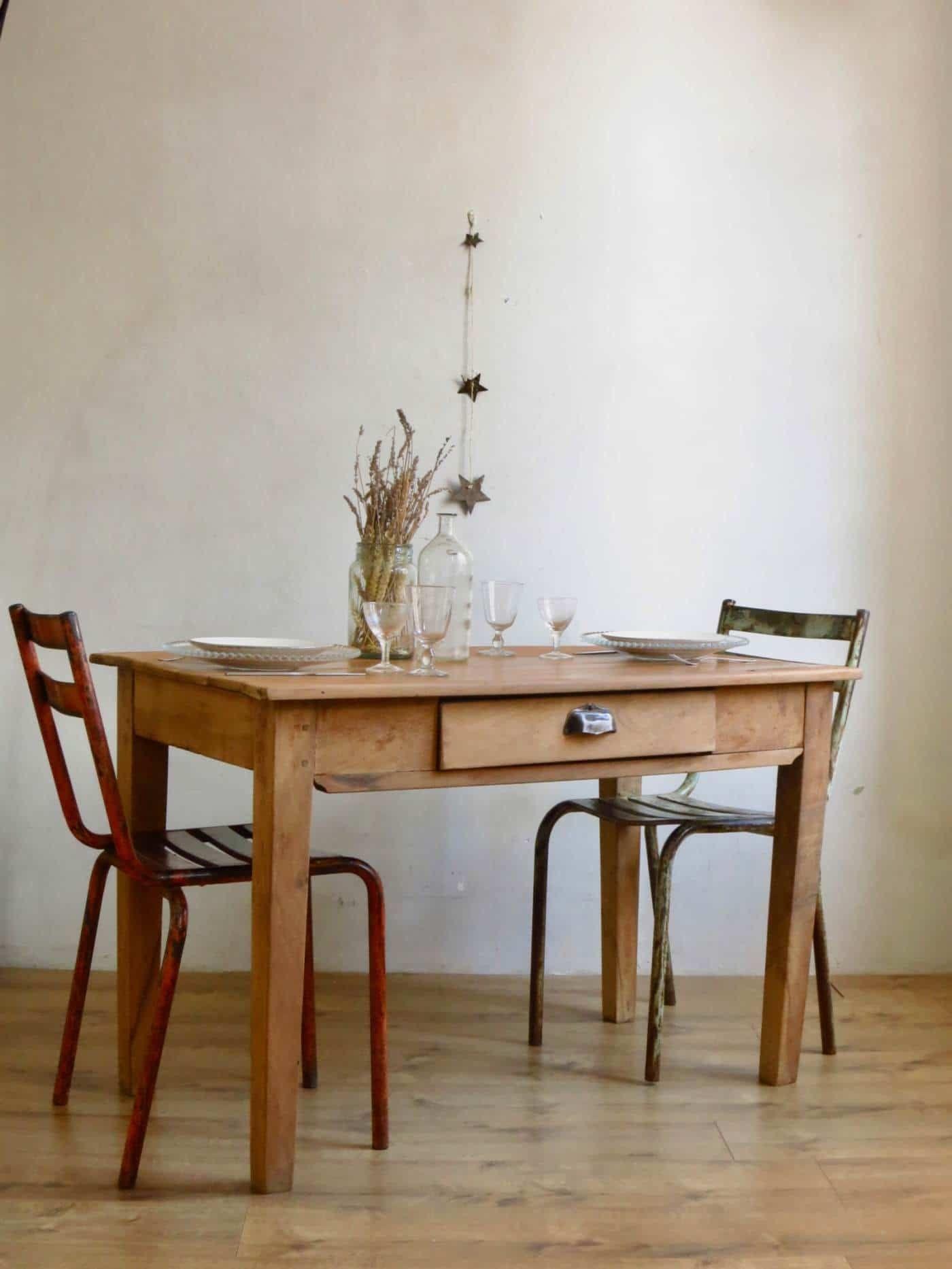 table de ferme c est vintage