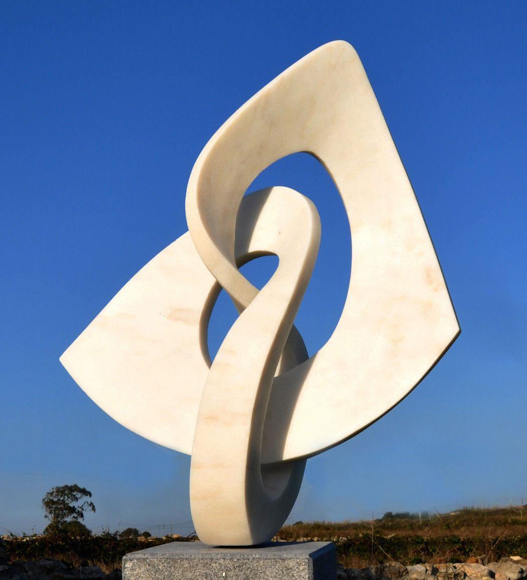 Weightless marble sculptures by georg scheele stone sculpture