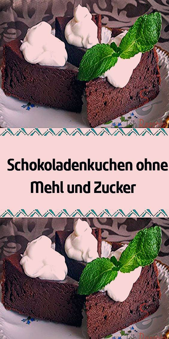 Photo of Schokoladenkuchen ohne Mehl und Zucker
