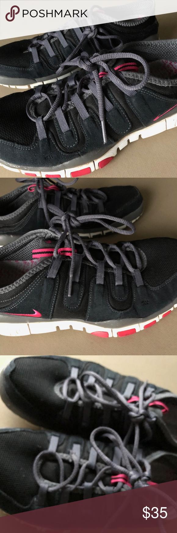 75093316adb6 ... germany nike free 7.0 black pink sneaker gym shoe womens nike free 7.0  mesh suede upper