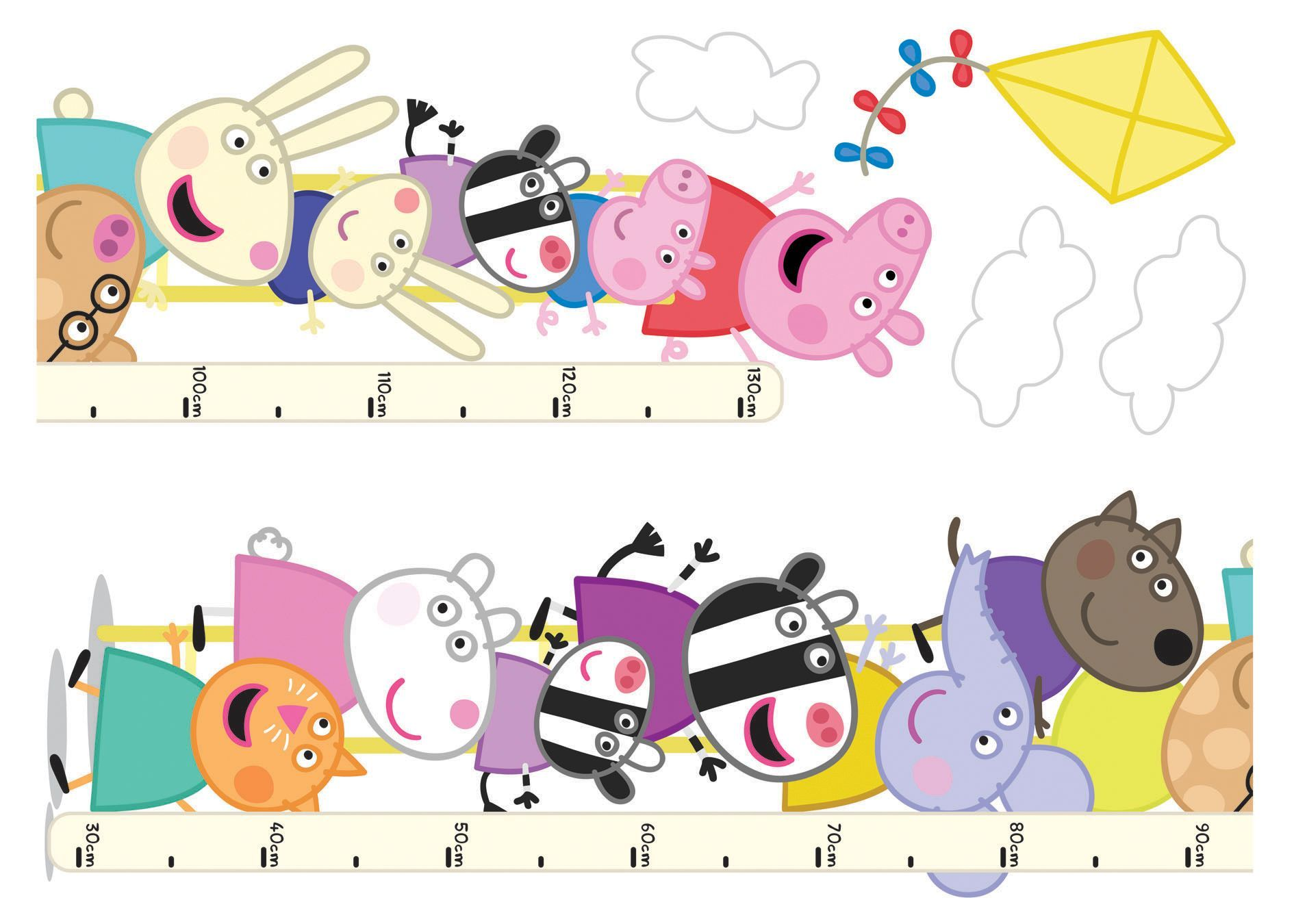 Peppa Pig Self Adhesive Wall Stickers Departments DIY