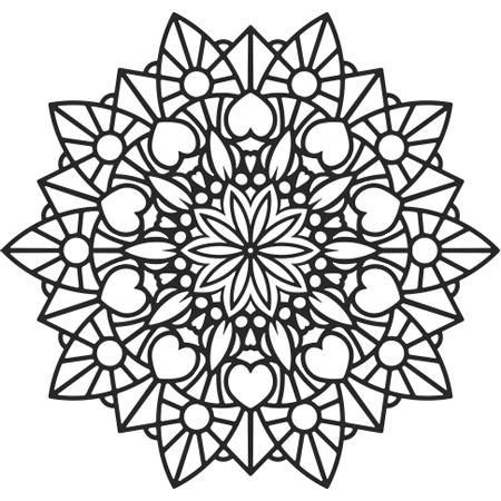 Image result for coloriage mandala fleur coloriage pinterest coloriage mandala and - Coloriage fleur 3 ans ...