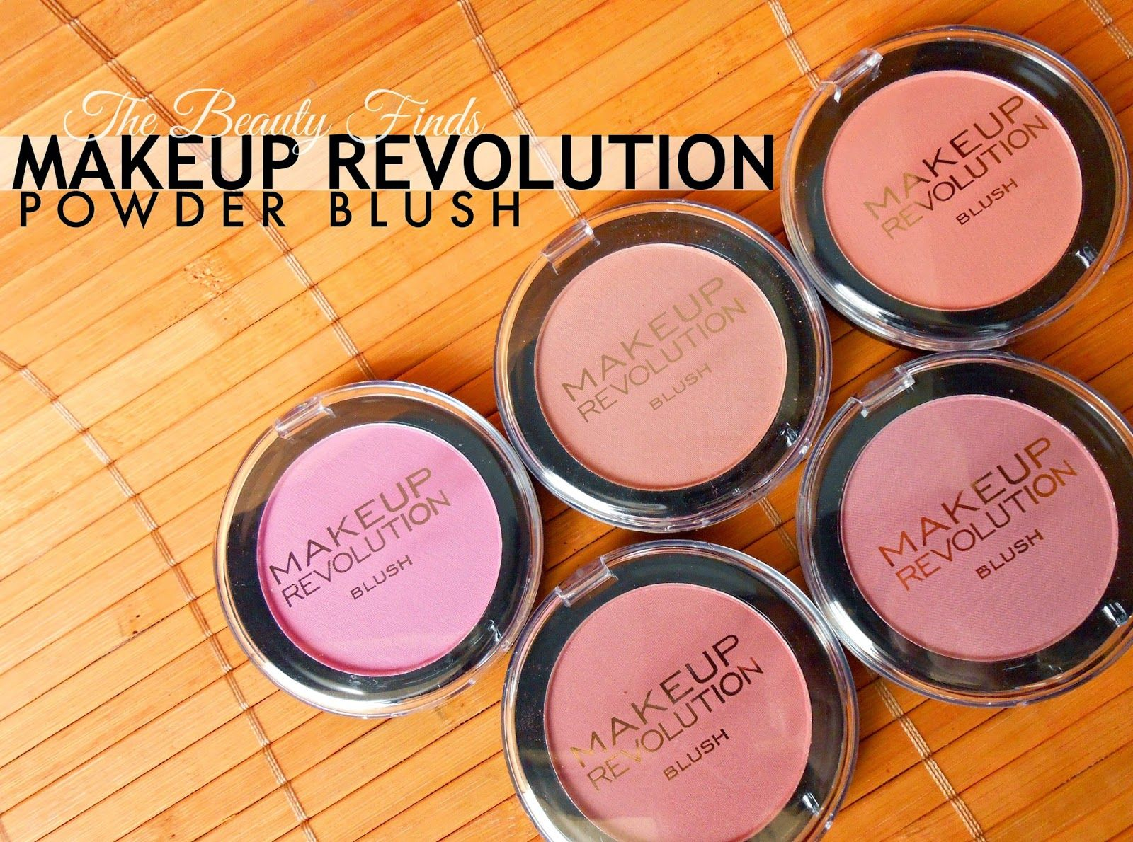 Makeup Revolution POWDER Blush swatches Makeup