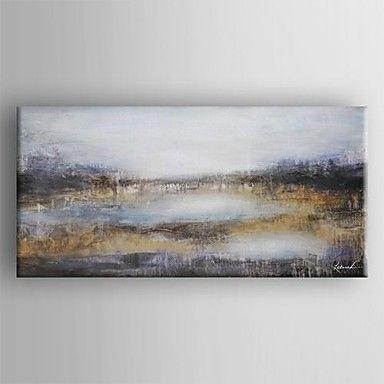 pintura a óleo mão canvas abstrato moderno pintado com esticada emoldurado de 2488807 2016 por R$380,96