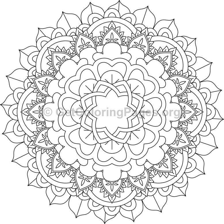 Mandala For Printing And Coloring Mandalas Pinterest Color