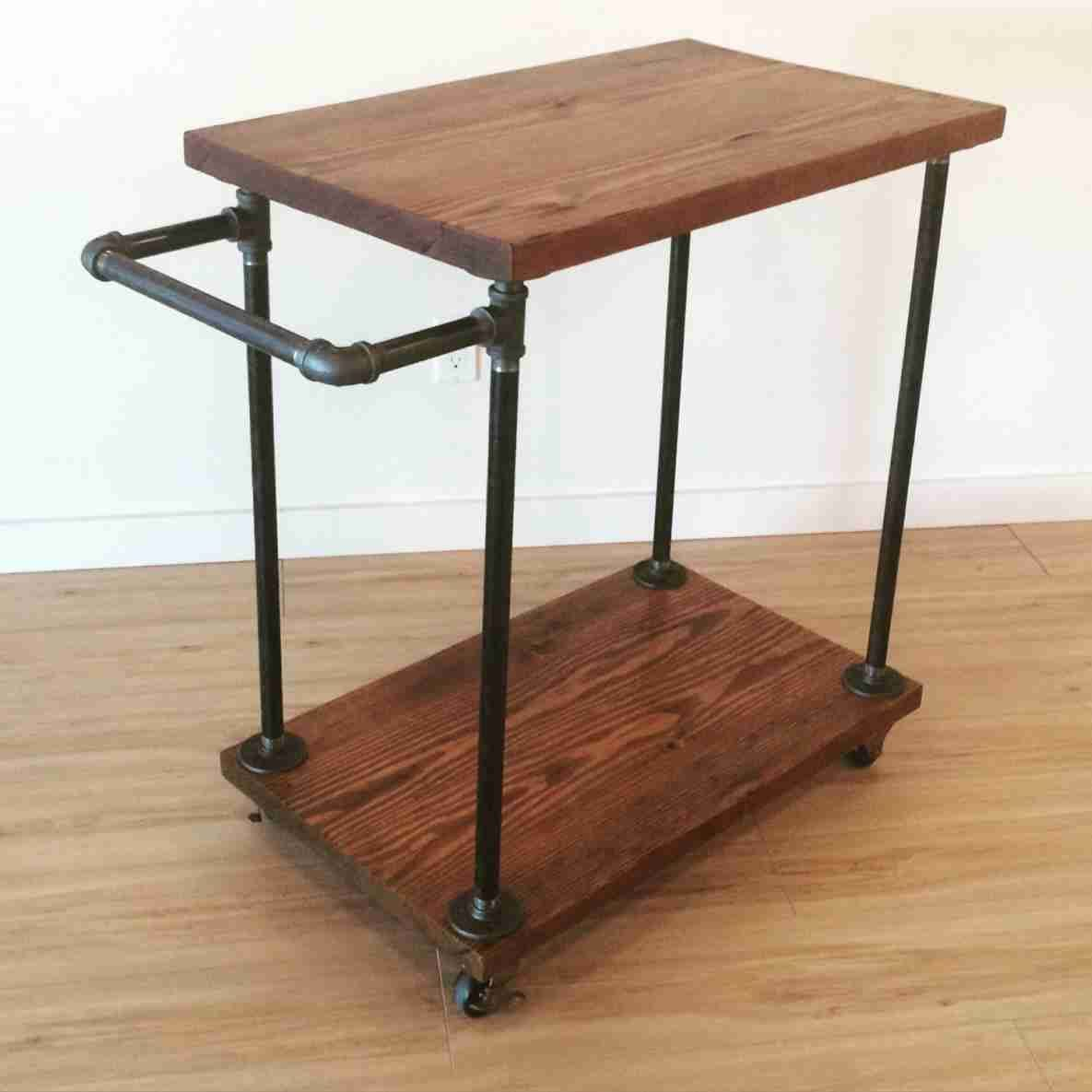 Cast Iron Pipe Reclaimed Fir Bar Cart Everything Is Handmade To Order Using Locally Salvaged Timbers And Eco Friendly Finishes Can Be Customized Any