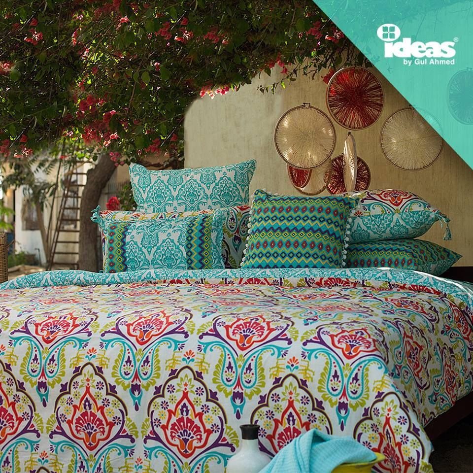 50 Indian Interior Design Ideas: Gul Ahmed Ideas Bed Sheets 2016 Collection (1)