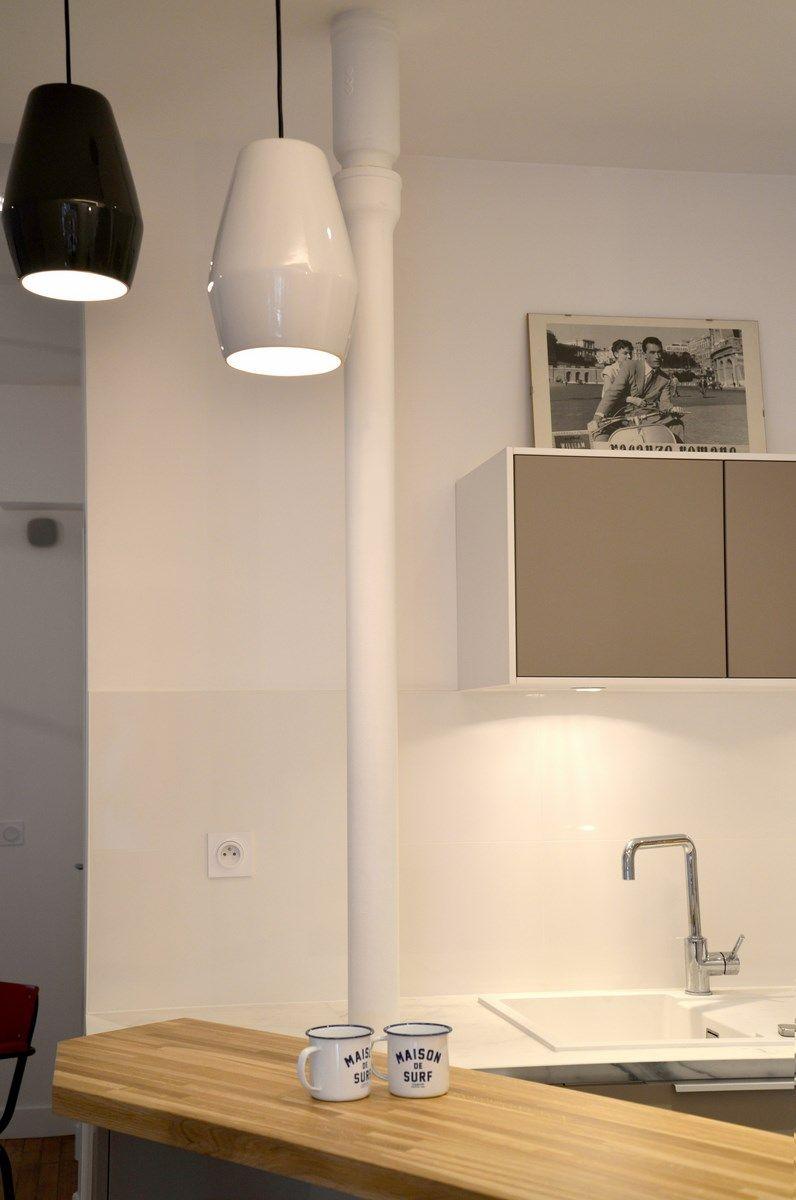 Bar En Bois Massif Cuisine Ikea Plan De Travail Ceramique Effet Marbre Renovation D Un Appartement Art Deco Dans Un Style N Decoration Loft Design Art Deco
