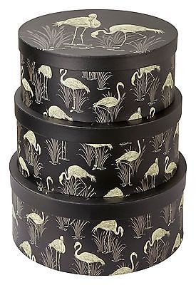 Set of 3 Flamingo Storage Boxes matches Lagoon Wallpaper