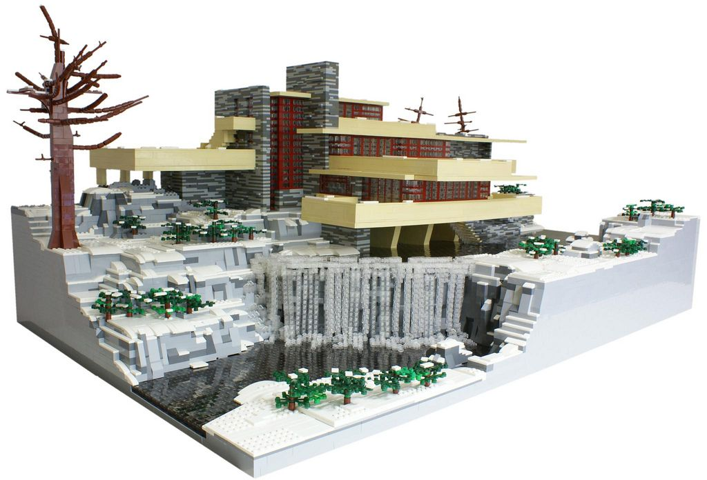 F L Wright Fallingwater Lego Pinterest Lego Legos And