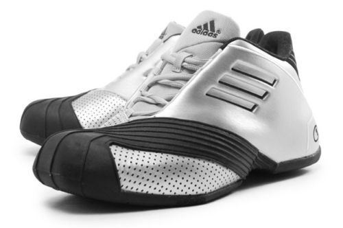 6745ee41a243 Adidas TMAC 1 Rare Shoes Metallic Silver Black Tracy McGrady NBA New G59092