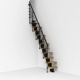 Best Arke Oaktra 9 1 Ft Black Modular Staircase Kit K22051 640 x 480