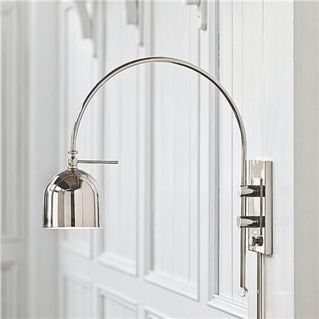 Bedroom Swing Arm Wall Sconces arc dome shade modern swing arm wall light | swings, polished