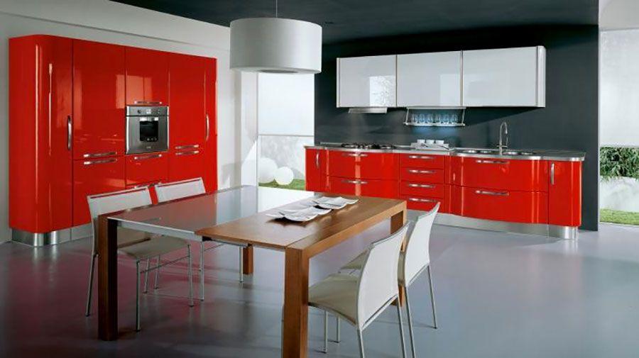 30 Modelli di Cucine Rosse dal Design Moderno | Colori ...