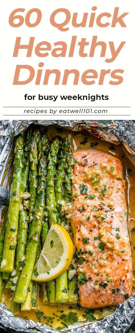60+ gesunde schnelle Abendessen für geschäftige Wochenabende #healthyfoodprep