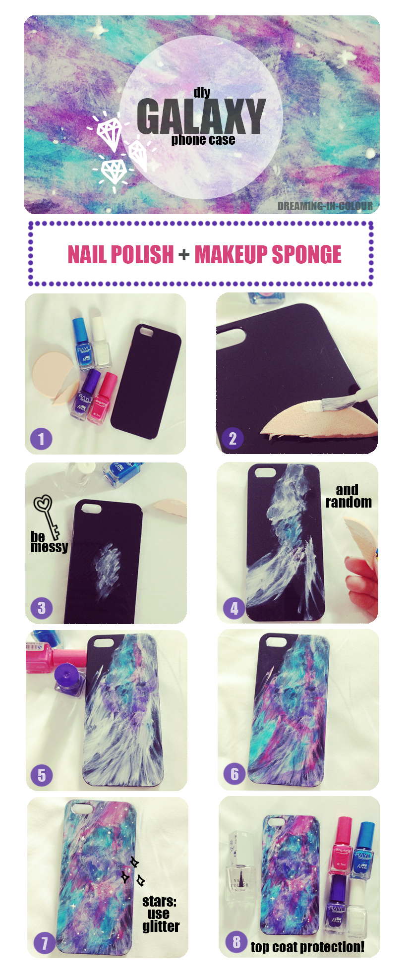 galaxy phone cover tutorial, i did this it didnt came out exactly the same but i loved the results