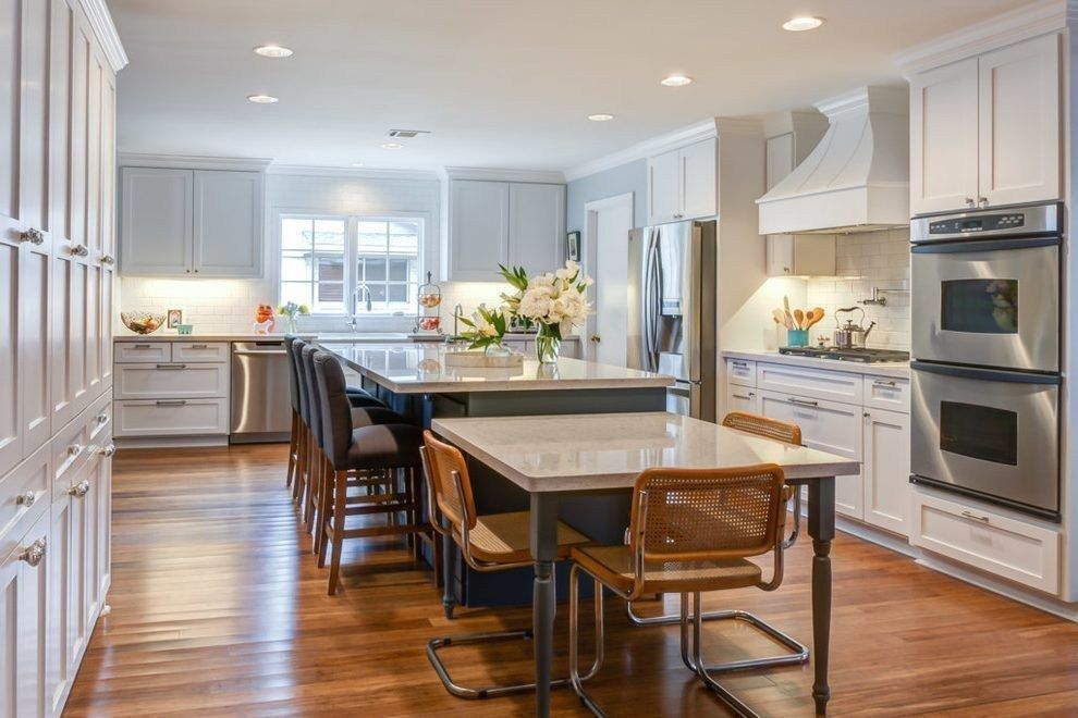 Kitchen With Attached Dining Room In 2021 Kitchen Island Dining Table Kitchen Island With Table Attached Kitchen Island Table