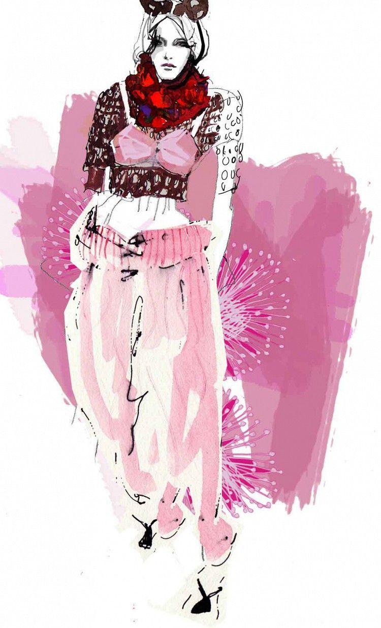 Modeconnect.com - Francesca Waddell fashion illustration - Marc Jacobs
