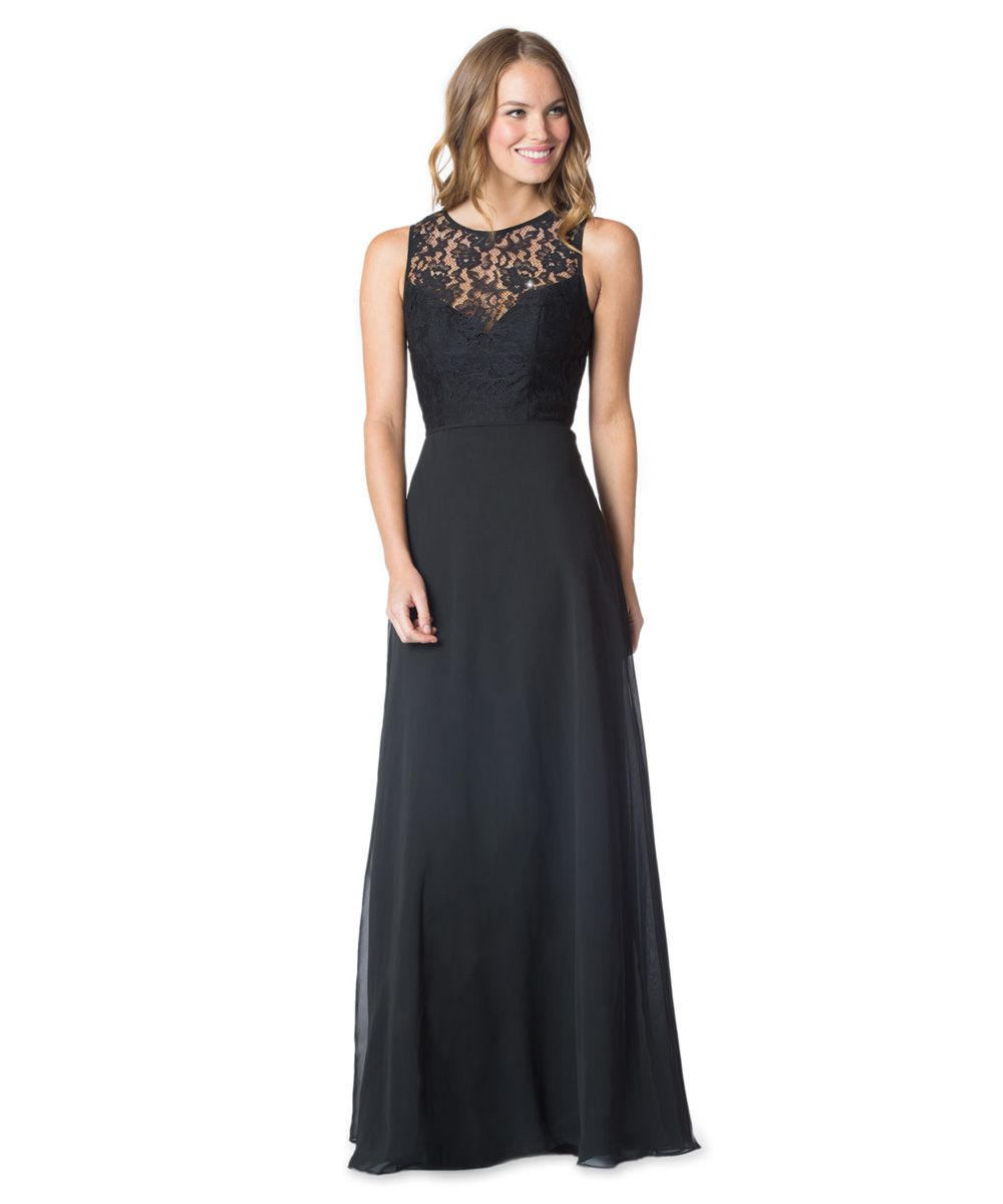 Aliexpress buy black chiffon with lace bridesmaid dresses