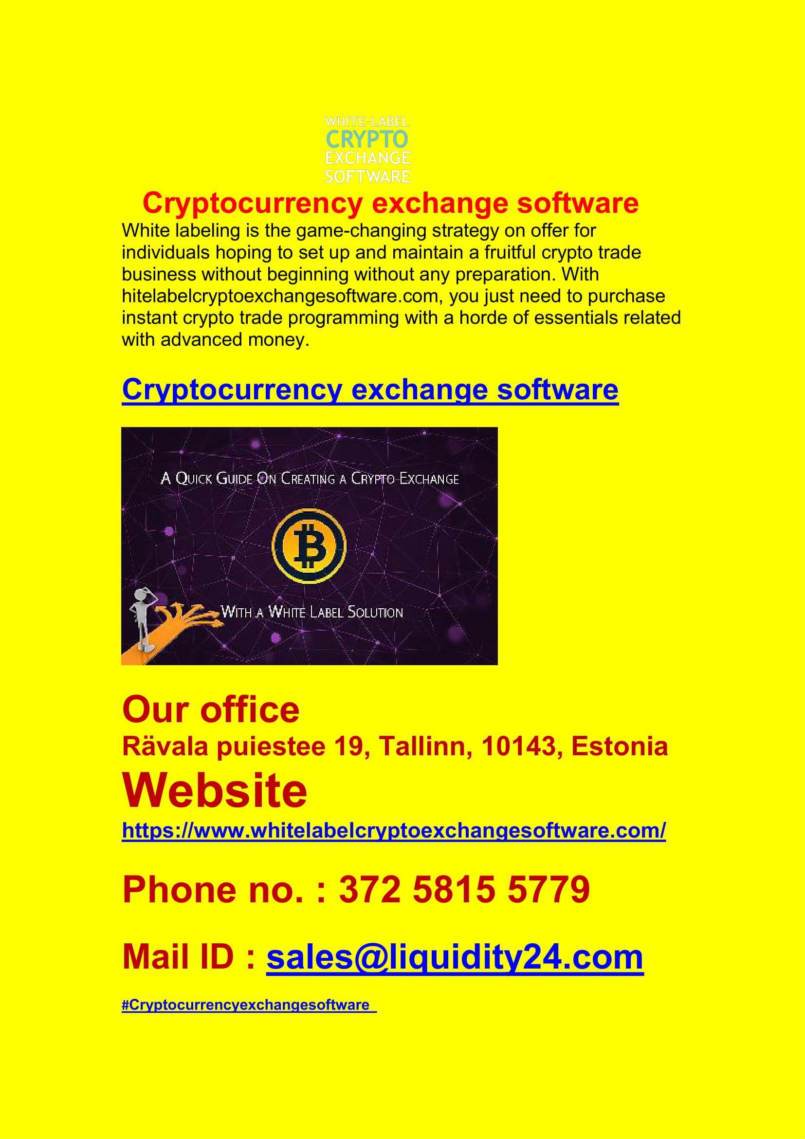 Cryptocurrency exchange software Crypto exchange