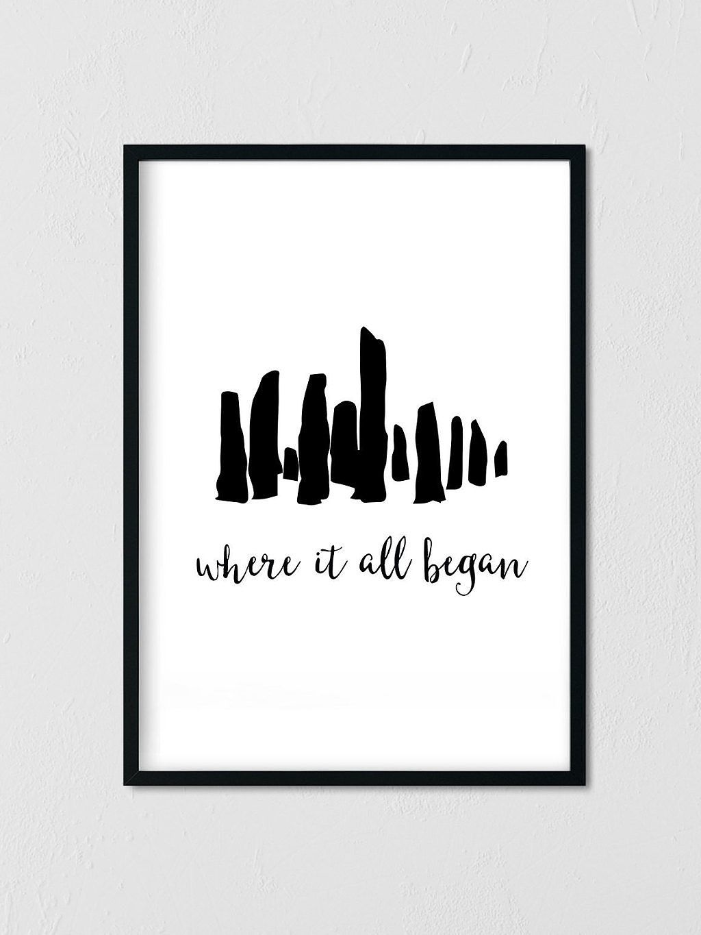 Craigh Na Dun Silhouette | Outlander Printable Poster | Best ...