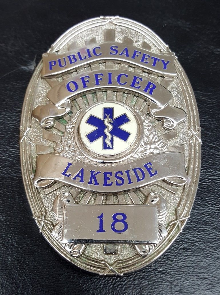 Public Safety Officer, Lakeside (Blackinton) | Police badges