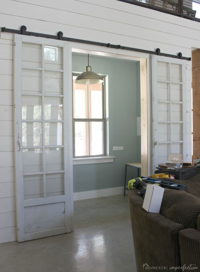 Green And Glass Sliding Barn Doors Double Sliding Barn Doors Diy Barn Door Hardware Sliding Doors Interior