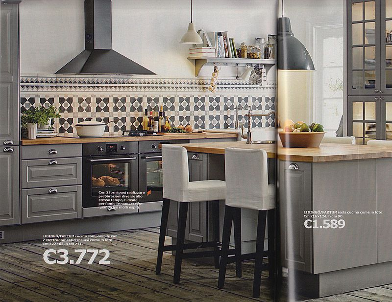 isola ikea | Cucina | Pinterest | Gray kitchens and Kitchens