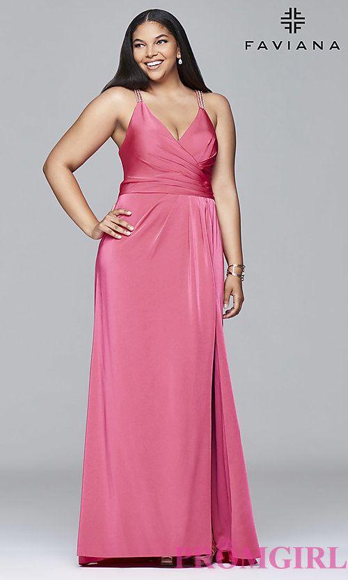 d2e36c39e78 Style  FA-9414 Front Image Plus Prom Dresses